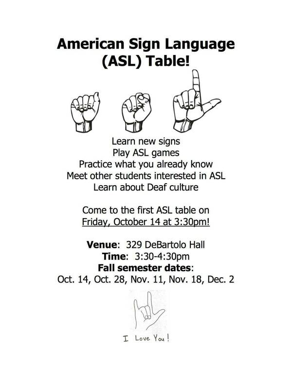 Asl Table