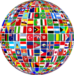 512px International Flag Globe